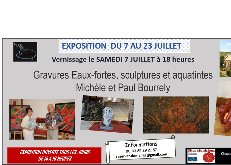 Exposition Michèle et Paul Bourelly peintures sculptures à Ige