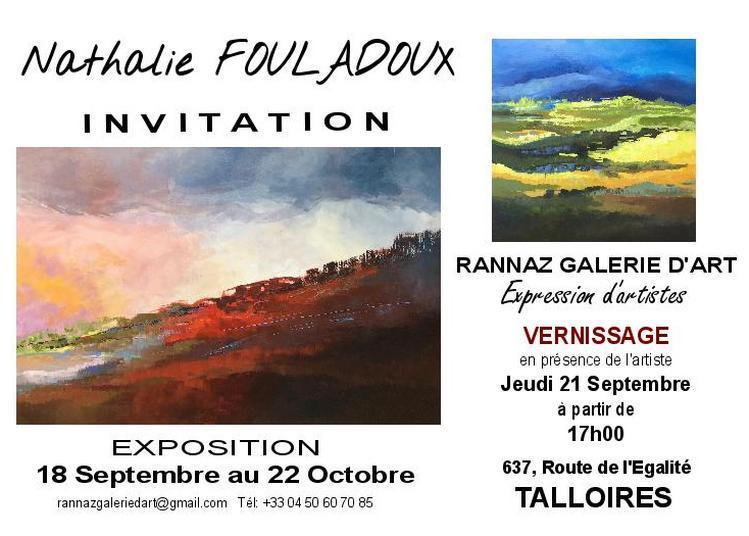 Exposition peinture Nathalie Fouladoux à Talloires