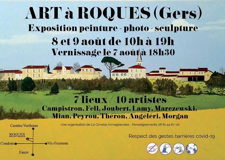 Exposition peinture, photo, sculpture à Roques