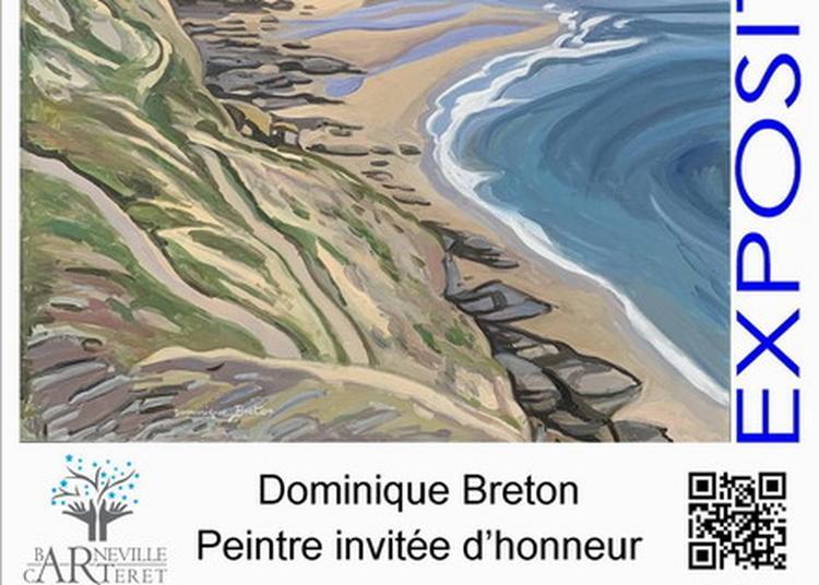 Exposition peintures de Dominique Breton (invitée d'honneur) à la salle du Parc à Barneville Carteret