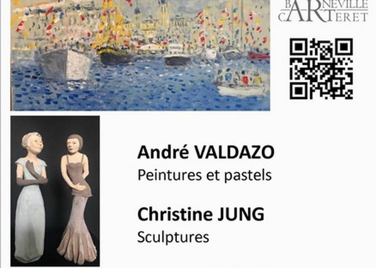 Exposition peintures et sculptures de André Valdazo et Christine Jung à la salle du Parc à Barneville Carteret