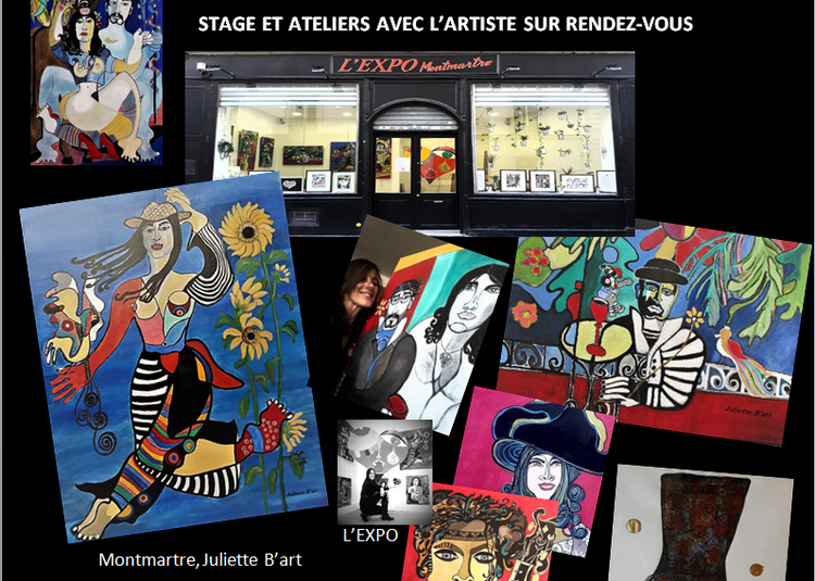 Exposition permanente Juliette B'Art à Paris 18ème