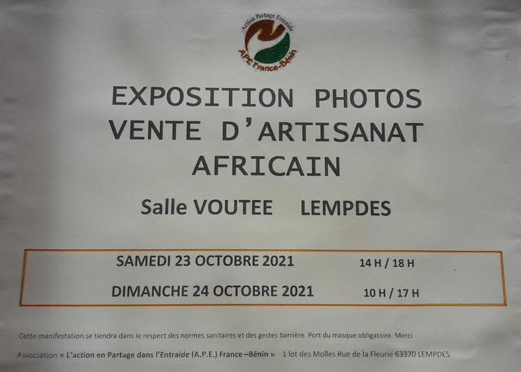 Exposition Photos du Bénin et vente d'artisanat africain à Lempdes