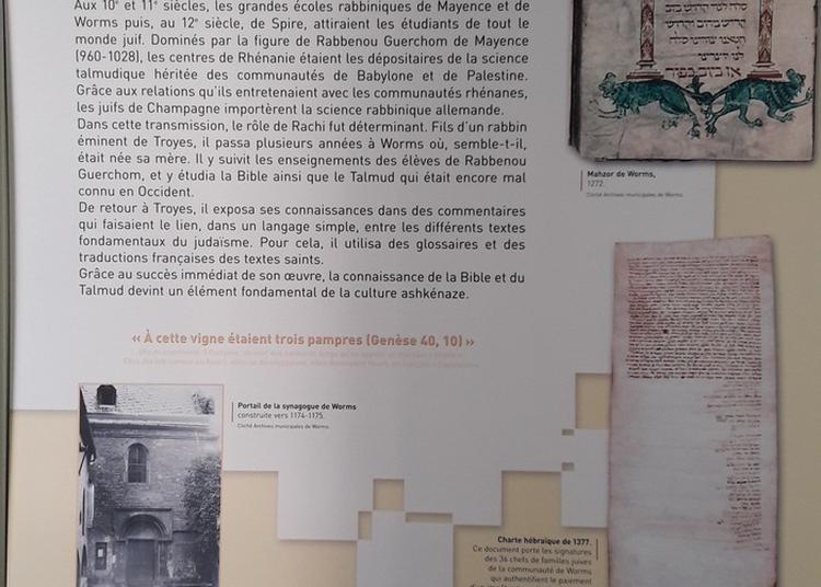 Exposition Rachi Et Les Juifs De Troyes Au Moyen Âge