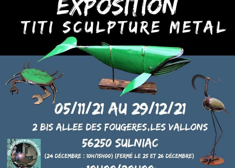 Exposition titi sculpture metal à Sulniac