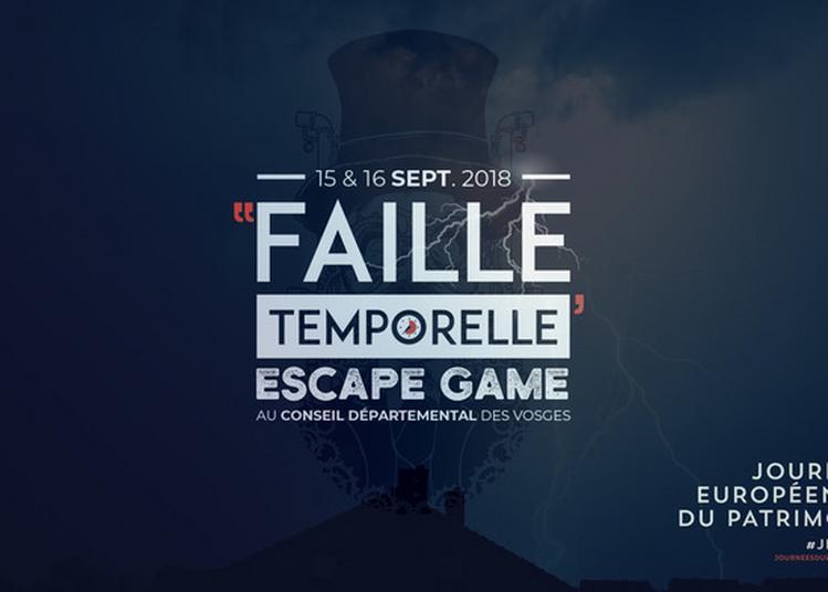Faille Temporelle, Escape Game Au Conseil Départemental Des Vosges à Epinal