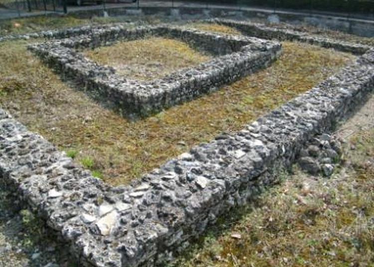 Fanum (temple) Gallo-romain à Chenehutte Treves Cunault