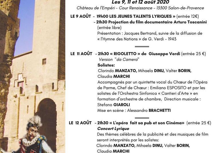Festival d'art lyrique de Salon-de-Provence 2020