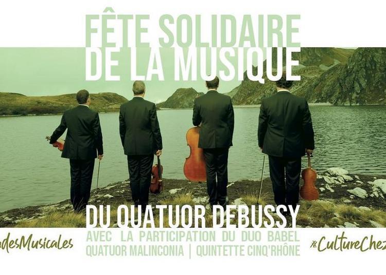 Fête Solidaire de la Musique du Quatuor Debussy & Cie à Lyon
