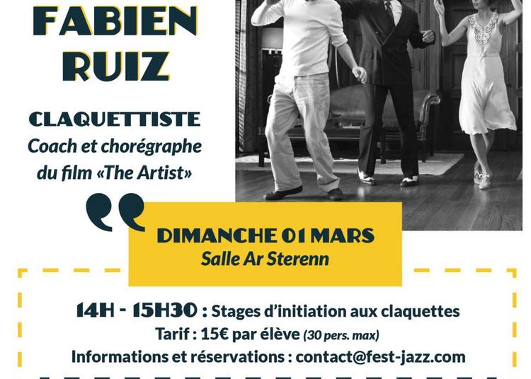 Stage d'initiation au claquettes et concert de Fabien Ruiz à Chateauneuf du Faou
