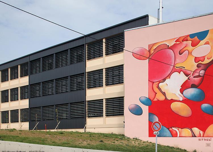 Fresque sensuelle et colorée de Guillaume Bottazzi en Auvergne-Rhône-Alpes à Beaumont