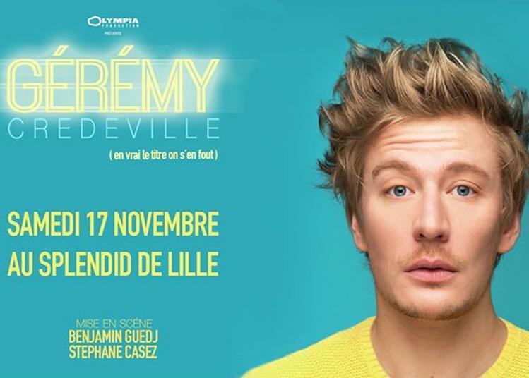 Gérémy Crédeville à Lille