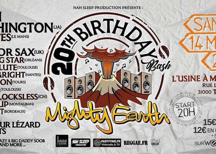 Glen Washington / Mighty Earth 20th Birthday Bash à Toulouse
