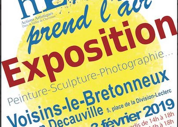 Hélium prend l'air Exposition collective, 2ème édition à Voisins le Bretonneux
