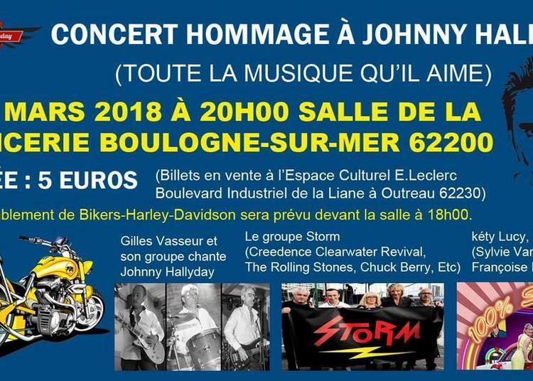 Hommage à Johnny à Boulogne sur Mer