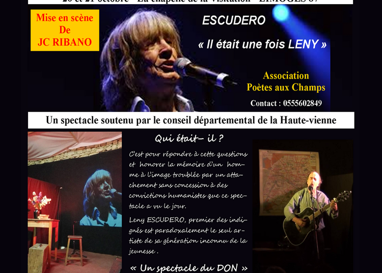 Hommage à Leny Escudero à Limoges