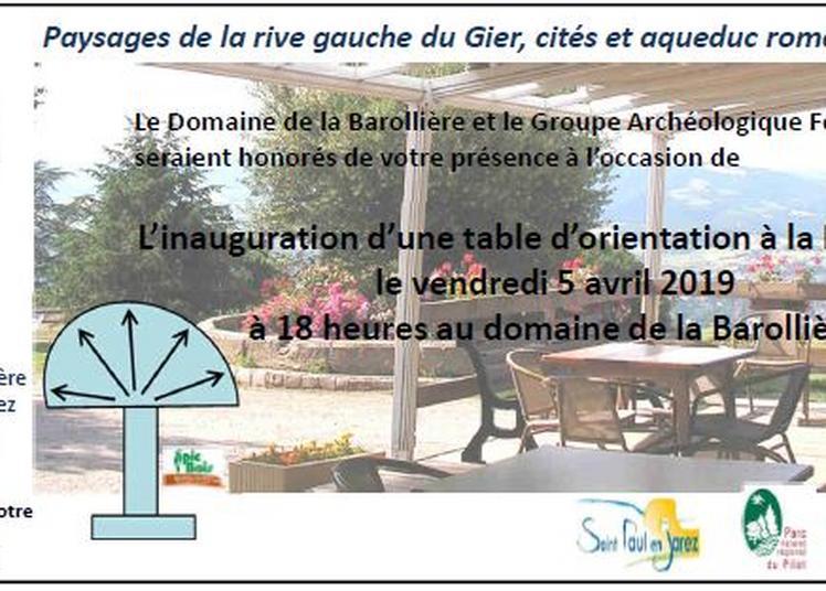 Inauguration d'une table d'orientation au Domaine de la Barollière à Saint Etienne