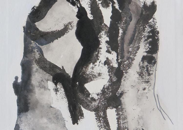 Isabelle Hupfer - Jeter l'encre Finissage de l'exposition - Performance de l'artiste à Nice