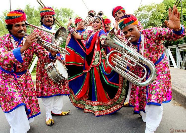 Jaipur Maharaja Brass Band, L'heure Indienne.... à Fecamp