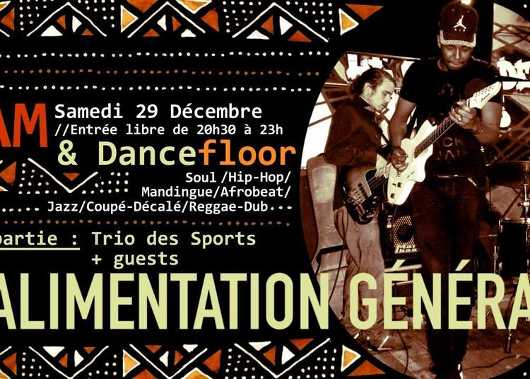 Jam & Dancefloor à L'Alim // 1ère Partie : Trio Des Sports à Paris 11ème