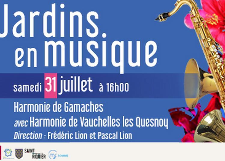 Jardins en musique - Harmonie de Gamaches et Harmonie de Vauchelles les Quesnoy à Saint Riquier