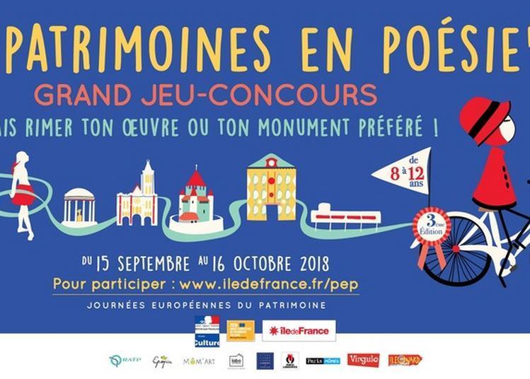 Jeu-concours Patrimoines En Poésie à Paris 5ème