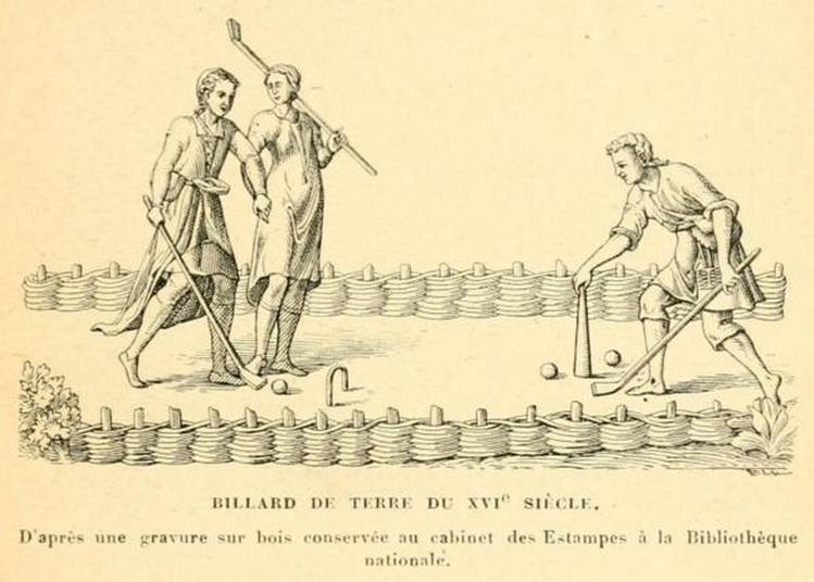 Jeu De Croquet Au Château D'ormesson à Chennevieres sur Marne