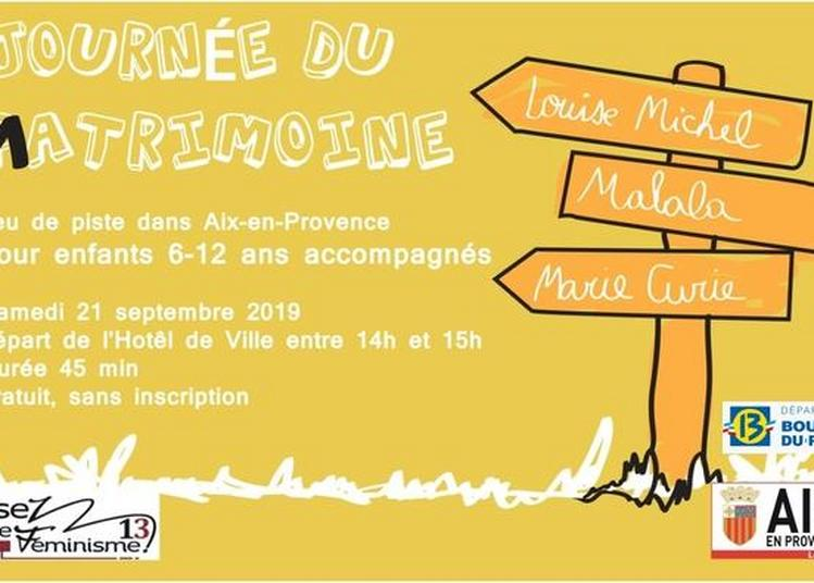 Jeu De Piste Du Matrimoine, Enfants Accompagnés à Aix en Provence