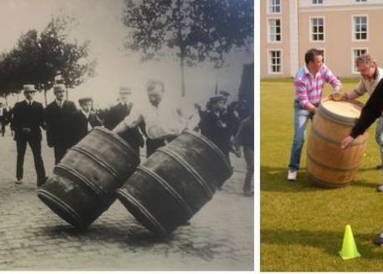 Jeu : Le Roulage Des Tonneaux à Vin à Bercy Village à Paris 12ème