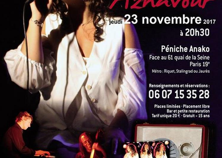 Joana Mendil chante Aznavour à Paris 19ème