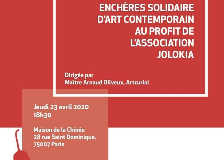 L'association Jolokia organise sa 1re vente aux enchères solidaire d'art contemporain à Paris 7ème