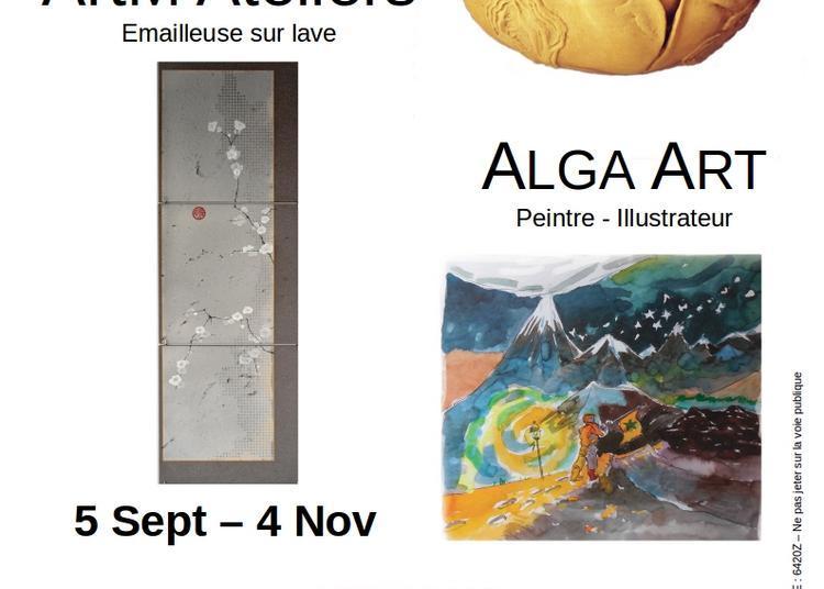 L'Escabeau Volant fait sa rentrée avec  ALGA ART, ArtM Ateliers et Serge Raoux à Chamalieres