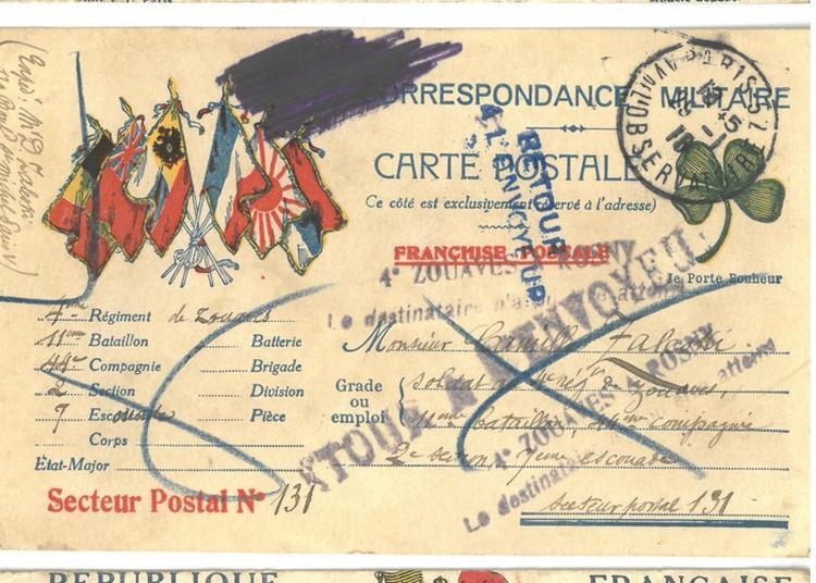 L'exposition 100 Ans Plus Tard. Lettres De Poilus Et Autres Documents De La Guerre 1914-1918 Des Fonds Et Des Collections De La Shlp/bpp à Paris 4ème