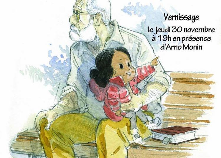 Exposition L'adoption d'Arno Monin et Zidrou à Paris 5ème