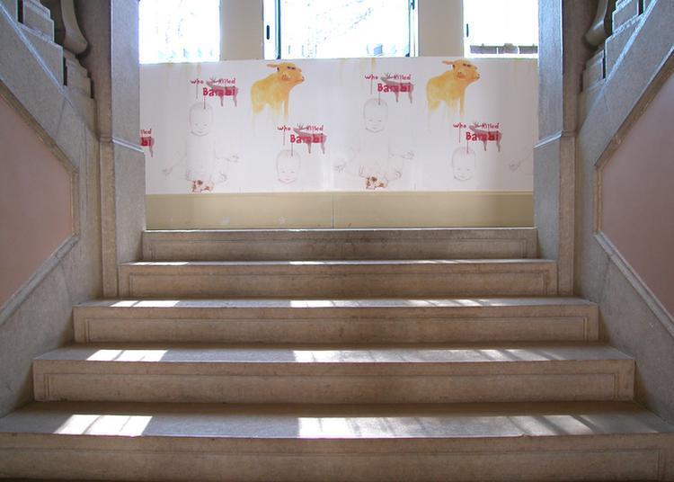 Lancement De L'exposition Sur Bâches, Arbres à Bascule : Galerie De Portraits, Réalisée Par L'artiste Philippe Jacquin-ravot à Gap