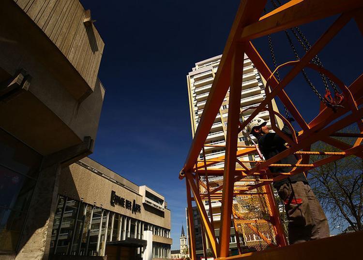 Le Chantier De Rénovation De L'espace Des Arts à Chalon sur Saone