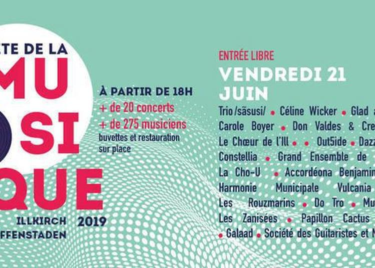 Le Choeur De L'ill / Grand Ensemble De L'accordéona / Harmonie Municipale Vulcania / Jam Mao à Illkirch Graffenstaden