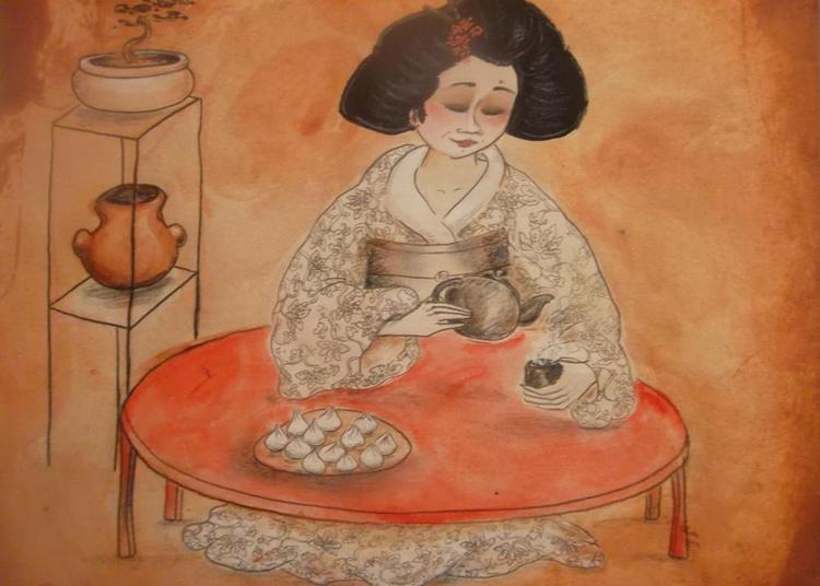 Le Japon au coeur, peintures et encres à Le Sel de Bretagne