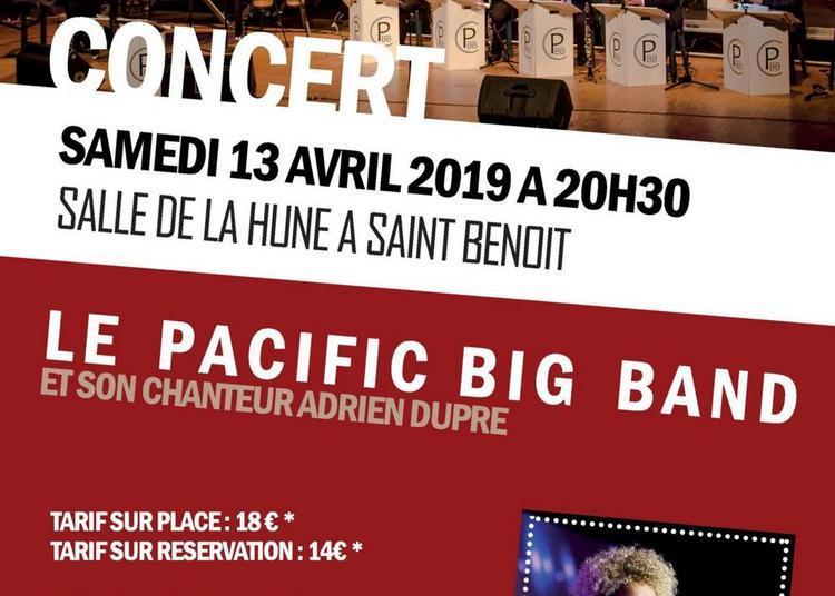 Le pacific big-band et son chanteur Adrien Dupré invite Sohie Thiam à Saint Benoit
