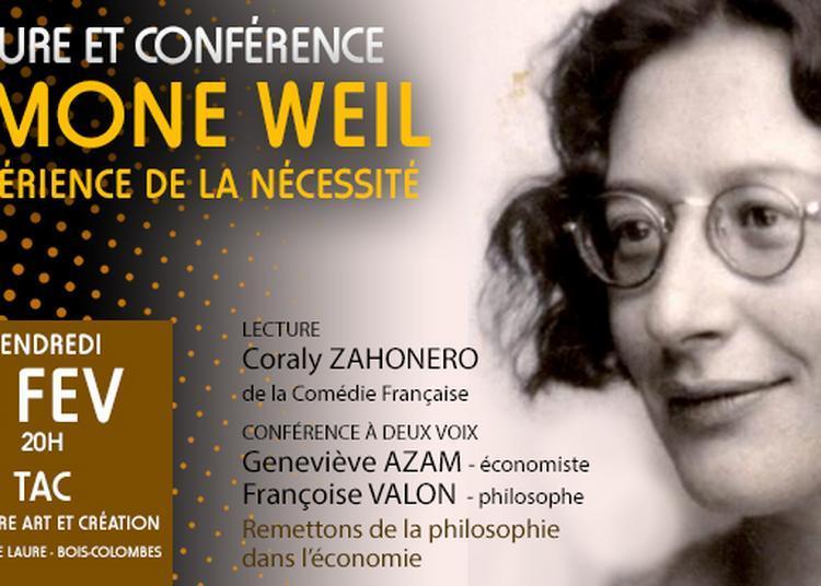 Lecture Simone Weil à Bois Colombes