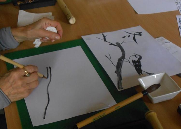 Les arts du Japon : shodo et sumie à Toulouse
