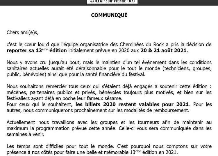 Les Cheminees Du Rock 2020