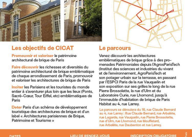 Les Chemins Des Architectures Emblématiques De Brique Du 5ième Arrondissement De Paris à Paris 5ème