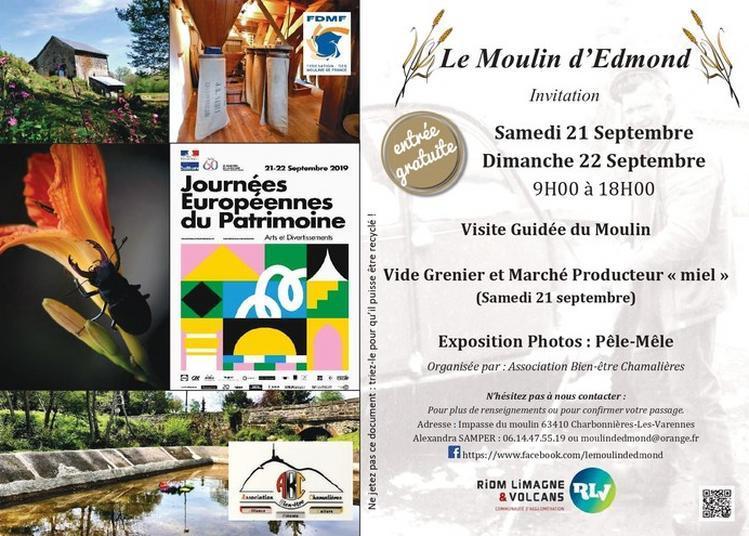 Les Journées Du Patrimoine Au Moulin D'edmond à Charbonnieres les Varennes