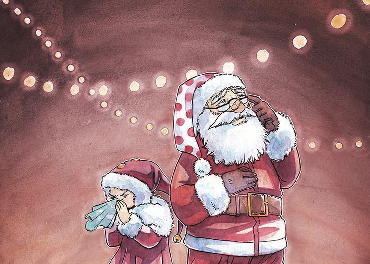 Les maladresses du père  Noël à Saint Etienne