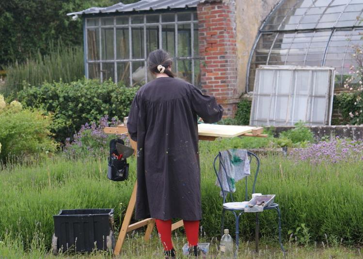 Les Peintres Au Jardin à La Bussiere