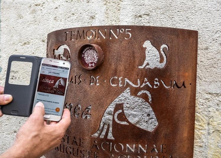 Les Témoins - Balade Numérique Créée Par Yann Hervis (artiste-plasticien) Et A-marie Royer-pantin (auteur) Au Gré De Totems En Acier Corten à Orléans