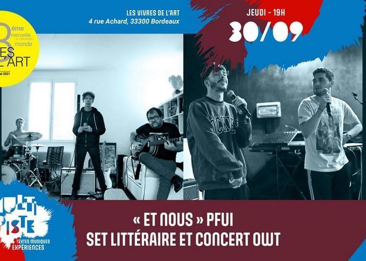 Les Vivres de l'Art - Multipiste Textes Musiques Expériences à Bordeaux