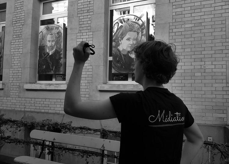 Lumière Sur Les Portraits De La Famille Curie Faits Par C215 à Paris 5ème
