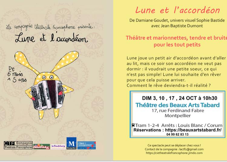 Lune et l'accordéon à Montpellier